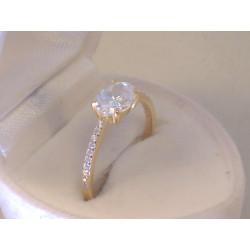 Jemný zlatý dámsky prsteň žlté zlato, zirkóny VP572Z 14 karátov 585/1000 2,0 g