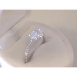 Jemný dámsky zlatý prsteň biele zlato zirkóny VP53191B 14 karátov 585/1000 1,91 g
