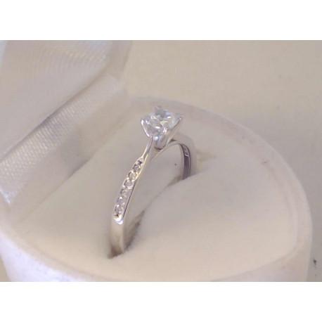 Očarújúci dámsky zlatý prsteň biele zlato, zirkóny VP51158B 14 karátov 585/1000 1,58 g