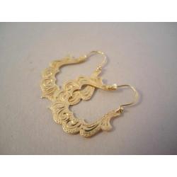 Zlaté dámske náušnice vzorované VA309Z 14 karátov 585/1000 3,09g
