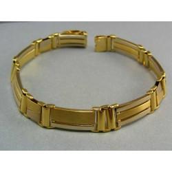 Zlatý náramok z viacfarebného zlata luxusný hrubý VN232483V