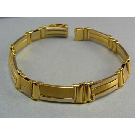 Luxusný hrubý náramok z viacfarebného zlata