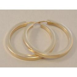 Zlaté dámske naušnice hladké kruhy VA236Z žlté zlato 14 karátov 585/1000 2,36 g