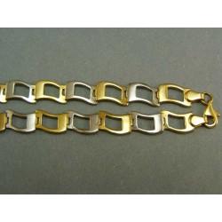 Zlatá retiazka z viacfarebného zlata VR451030V