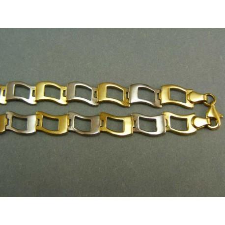 Zlatá retiazka z viacfarebného zlata