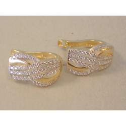 Zlaté dámske naušnice žlté zlato zirkóny VA295Z 14 karátov 585/1000 2,95 g