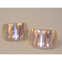 Zlaté naušnice dámske viacfarebné zlato zaujímavý vzor VA185V 14 karátov 585/1000 1,85 g