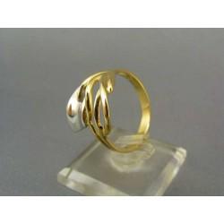 Zlatý dámsky prsteň z dvojfarebného zlata VP62494V