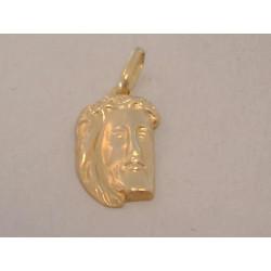 Zlatý prívesok Ježišova hlava VI052Z žlté zlato 14 karátov 585/1000 0,52 g