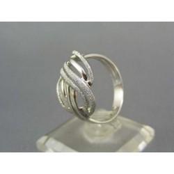 Zlatý prsteň z bieleho zlata poprepletaný VP59475B