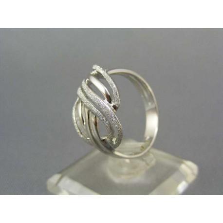 Dámsky prsteň z bieleho zlata