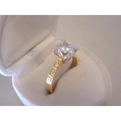 Zlatý dámsky prsteň zdobená obruč, zirkón VP56262V viacfarebné zlato 14 karátov 585/1000 2,62 g