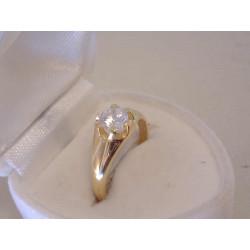 Zlatý dámsky prsteň zirkón v korunke DP52227Z žlté zlato 14 karátov 585/1000 2,27 g