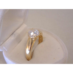 Zlatý dámsky prsteň žlté zlato zirkón VP54342Z 585/1000 3,42 g