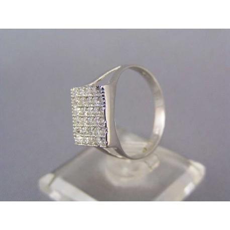 Elegantný prsteň biele zlato