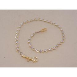 Zlatý dámsky náramok srdiečkové očká VN185156V viacfarebné zlato 14 karátov 585/1000 1,56 g