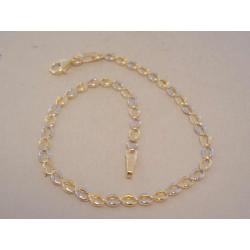 Zaujímavý dámsky náramok žlto biele zlato VN19160V viacfarebné zlato 14 karátov 585/1000 1,60 g