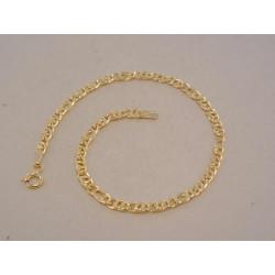 Zlatý náramok UNISEX zaujímavé očká VN20225Z žlté zlato 14 karátov 585/1000 2,25 g