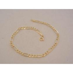 Zlatý pánsky náramok Figaro vzor VN195169Z žlté zlato 14 karátov 585/1000 1,69 g