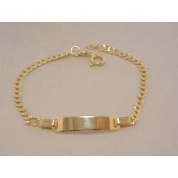 Zlatý detský náramok s platničkou VN15249Z žlté zlato 14 karátov 585/1000 2,49 g