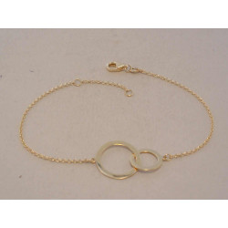 Dámsky zlatý náramok zdobený VN16145Z žlté zlato 14 karátov 585/1000 1,45 g