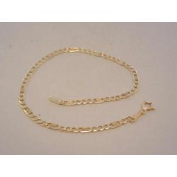 Zlatý pánsky náramok Figaro VN195126Z žlté zlato 14 karátov 585/1000 1,26 g