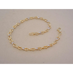 Dámsky zlatý náramok žltobiele zlato VN18201V viacfarebné zlato 14 karátov 585/1000 2,01 g