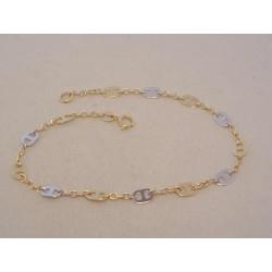 Zlatý dámsky náramok zaujímavé očká VN185183V viacfarebné zlato 1,83 g