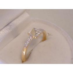 Zlatý dámsky prsteň viacfarebné zlato,zirkóny VP53182V viacfarebné zlato 14 karátov 585/1000 1,82 g