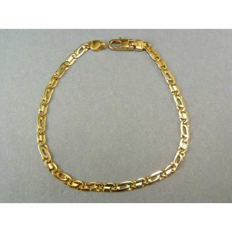 Zlatý náramok žlté zlato dolárový vzor