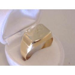 Zlatý pánsky prsteň jemný vzor VP69428Z žlté zlato 14 karátov 585/1000 4,28 g