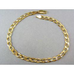 Zlatý náramok na ruku žlté zlato vzor pancier VN21817Z