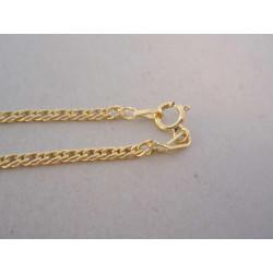Zlatá retiazka dvojité očká žlté zlato VR45183Z 14 karátov 585/1000 1,83 g