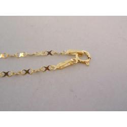 Zlatá dámska retiazka osmičkové očká VR46125Z žlté zlato 14 karátov 585/1000 1,25 g
