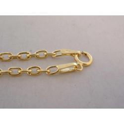 Zlatá retiazka ručný vzor UNISEX VR50244Z 14 karátov 585/1000 2,44 g