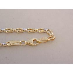 Dámska zlatá retiazka zaujímavé očká VR45439V viacfarebné zlato 14 karátov 585/1000 4,39 g