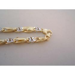 Zlatá dámska retiazka zaujímavé veľké očká VR511410V viacfarebné zlato 14 karátov 585/1000 14,10 g