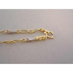 Zlatá retiazka Figaro unisex VR49290V viacfarebné zlato 14 karátov 585/1000 2,90 g