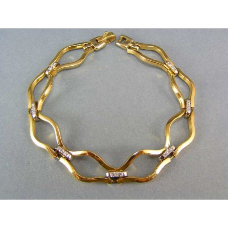 Luxusný zlatý náramok s kamienkami
