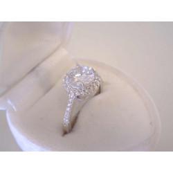 Strieborný dámsky prsteň žiarivé číre zirkóny VPS51288 925/1000 2,88 g