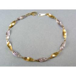 Zlatý náramok točený vzor viacfarebné zlato VN20330V
