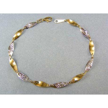 Náramok točený vzor viacfarebné zlato