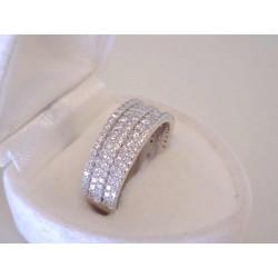 Žiarivý dámsky strieborný prsteň kamienky zirkónu VPS53414 925/1000 4,14 g