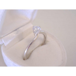 Jednoduchý dámsky strieborný prsteň zirkón v korunke VPS58297 925/1000 2,97 g