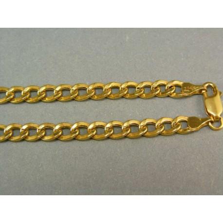 Zlatá retiazka žlté zlato vzor pancier
