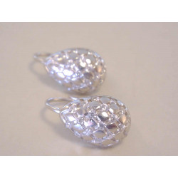 Výrazné dámske strieborné naušnice vzorované ,kamienky VAS246 925/1000 2,46 g