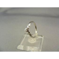 Zlatý dámsky prsteň jemný biele zlato VP55160B