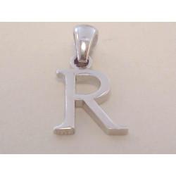 Strieborný prívesok písmeno R UNISEX VIS081 925/1000 0,81 g