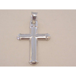 Strieborný prívesok Kríž hladký povrch VIS158 925/1000 1,58 g