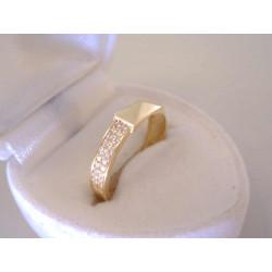 Dámsky zlatý prsteň žlté zlato kamienky zirkónu DP54182Z 14 karátov 585/1000 1,82 g